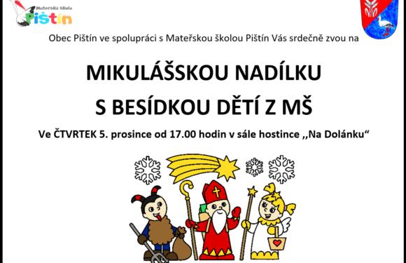Čertovská besídka MŠ s nadílkou